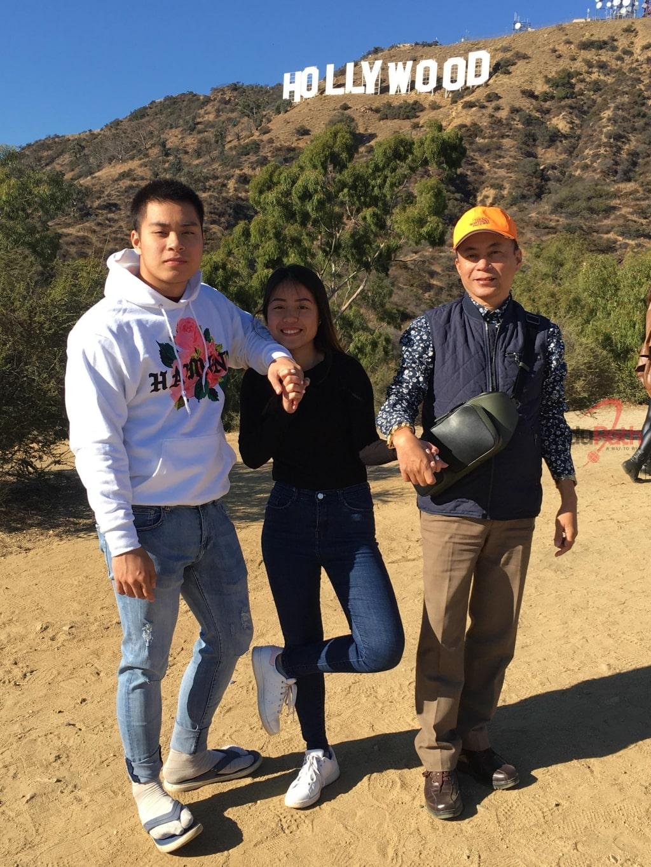 Anh Đinh Trung Dũng đi du lịch cùng 2 con