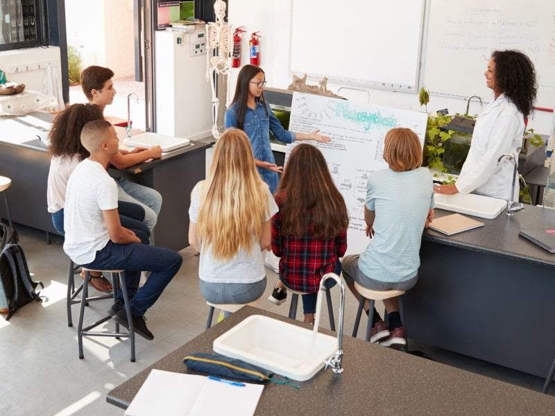 Học sinh trung học tại Mỹ