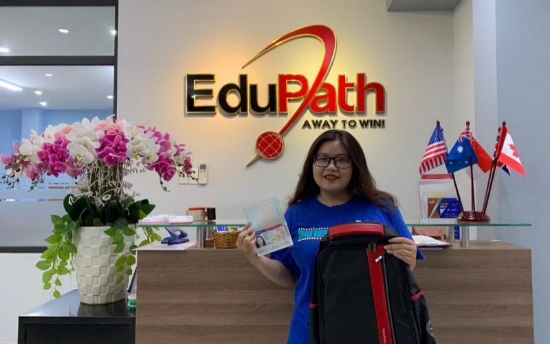 Du học sinh EduPath Nguyễn Ngọc Anh Thi xin visa thành công