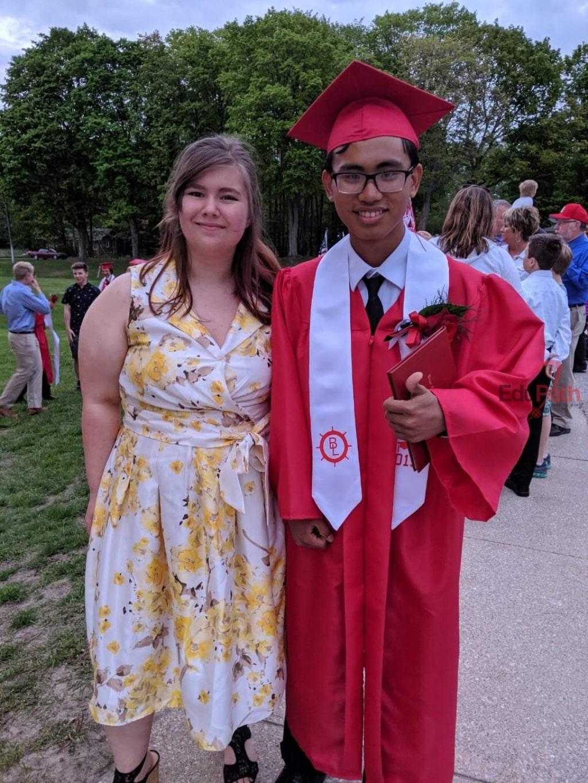 Thành Nhân nhận bằng tốt nghiệp tại Mỹ