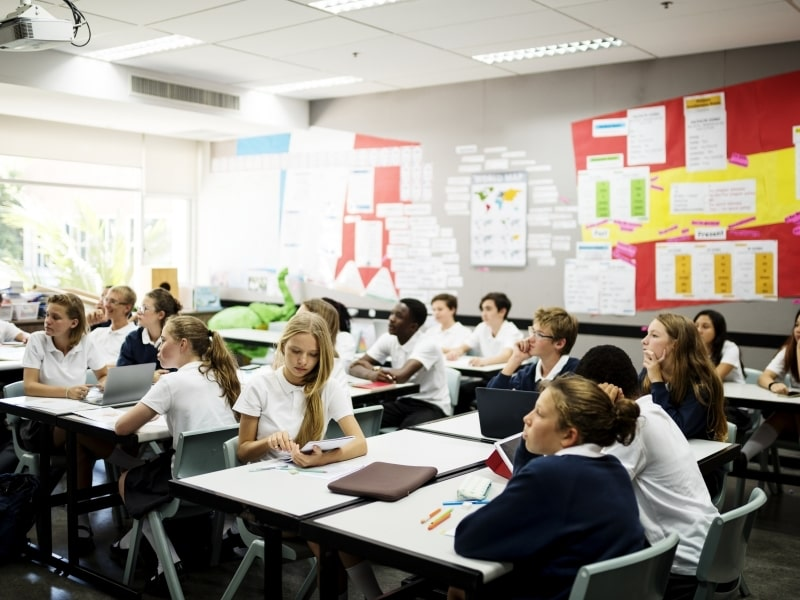 Lớp học của học sinh Trung học tại Mỹ
