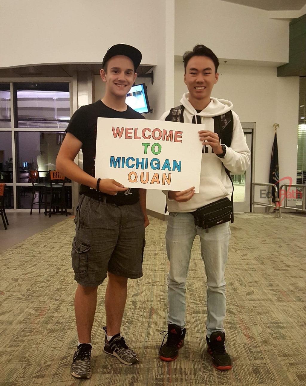 Du học sinh EduPath Trần Hoàng Quân được chào đón đến Mỹ