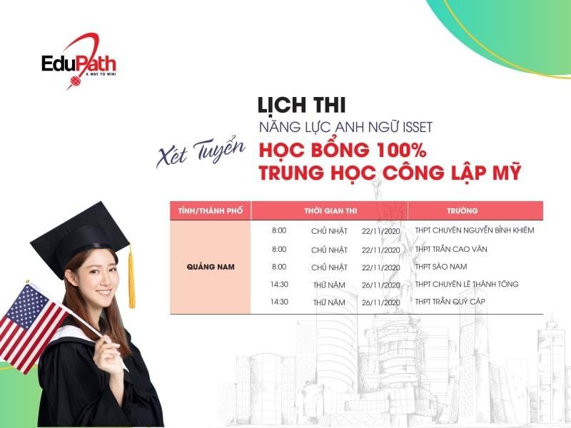 Lịch thi tuyển sinh học bổng tại tp Đà Nẵng