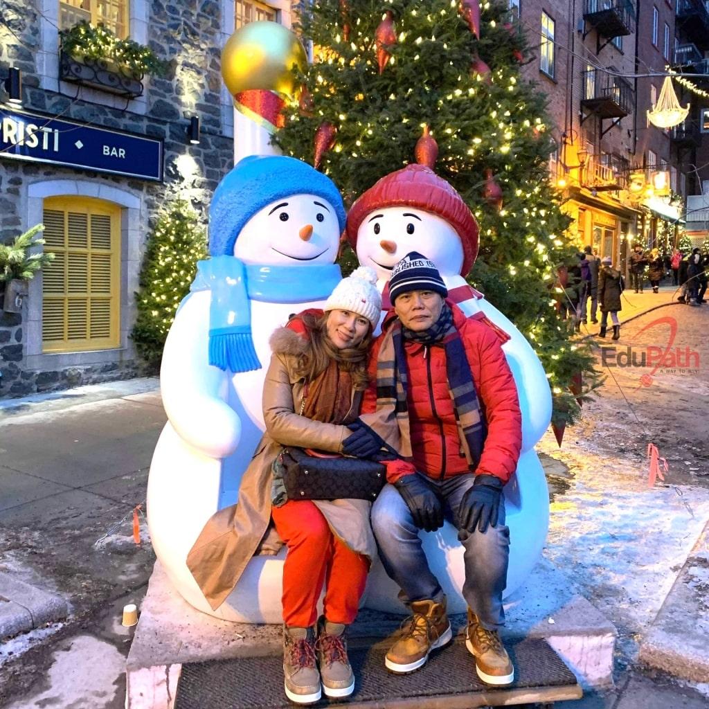 Vợ chồng chị Xuân Loan đón giáng sinh tại Canada