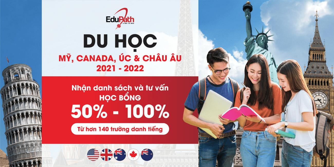 Học bổng du học Mỹ, Canada & Úc