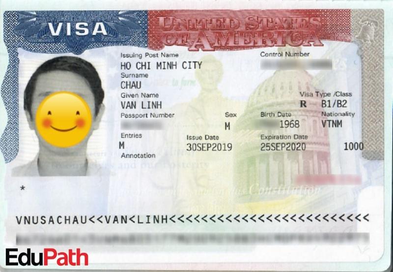 Visa du lịch Mỹ của anh Châu Văn Linh - Du học EduPath