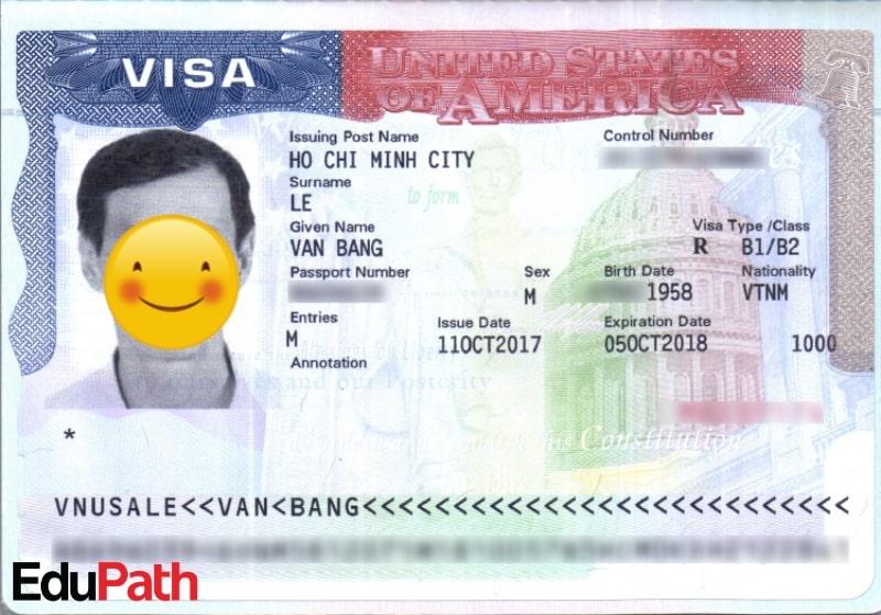 Visa du lịch mỹ của anh Lê Văn Bằng - Du học EduPath