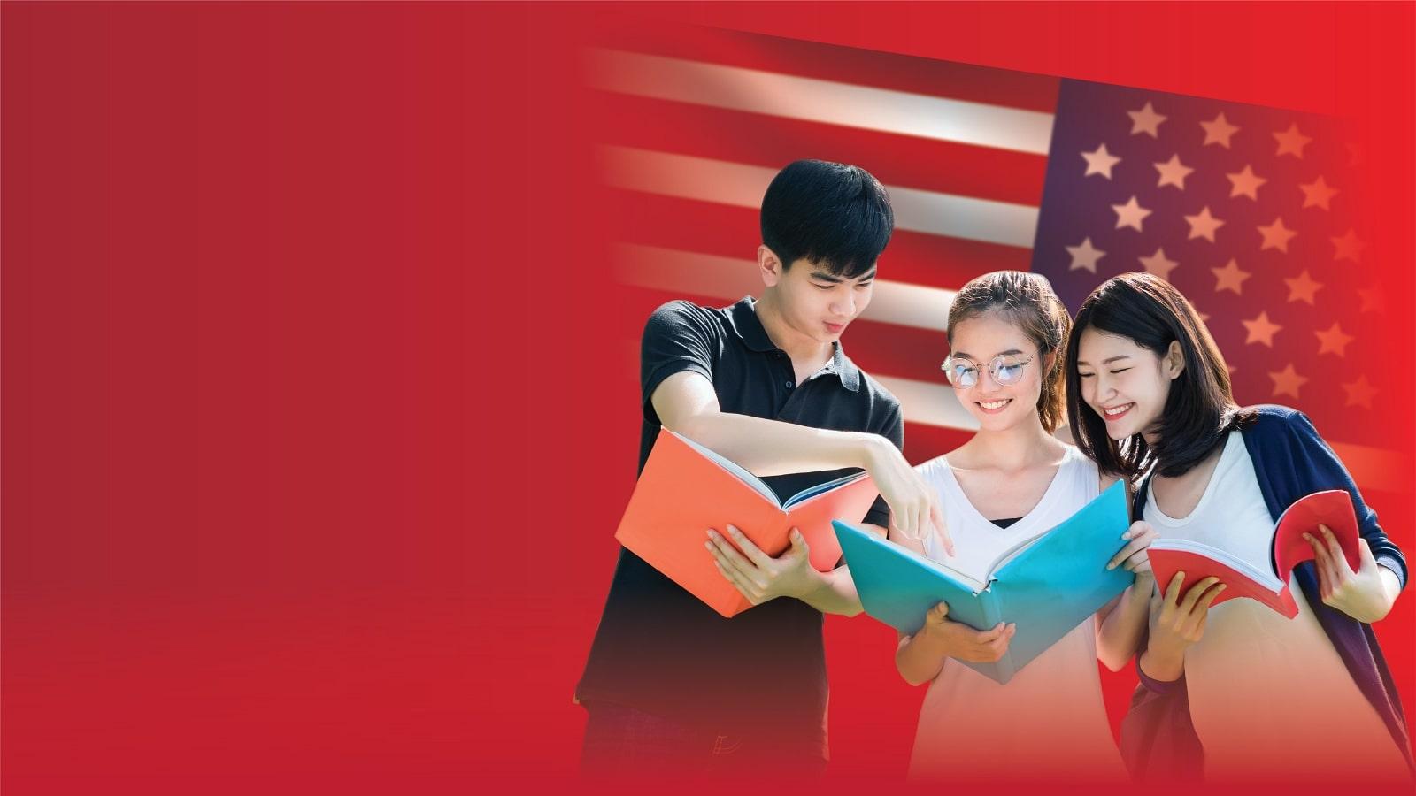 Banner học bổng trung học công lập Mỹ